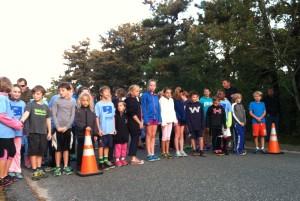 Start line of the Kid's Run!